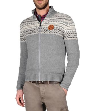 NAPAPIJRI DAVIDSON メンズ ジップセーター