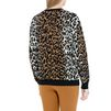 STELLA McCARTNEY Cheetah Jacquard Crew Neck Jumper  Round neck D e