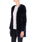 Furry knitted cardigan