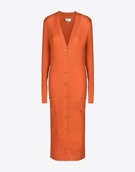 MAISON MARGIELA 4 Elongated wool cardigan Cardigan D f