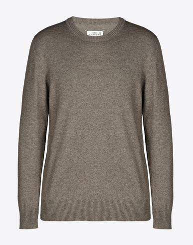 MAISON MARGIELA 14 Long sleeve sweater U Crewneck sweater with elbow patches f