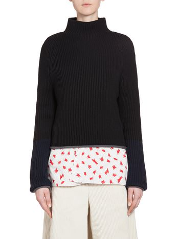 Marni Tight-fitting turtleneck in virgin wool Woman
