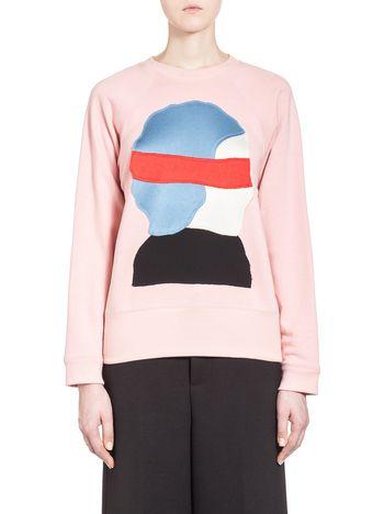 Marni Sweatshirt in Ekta design loopback jersey Woman