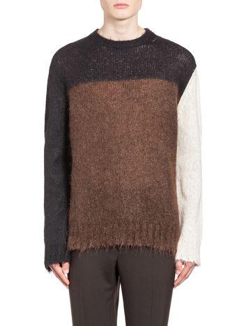 Marni Crew neck sweater in two-tone stockinette Man