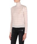 Striped sheer & solid sweater
