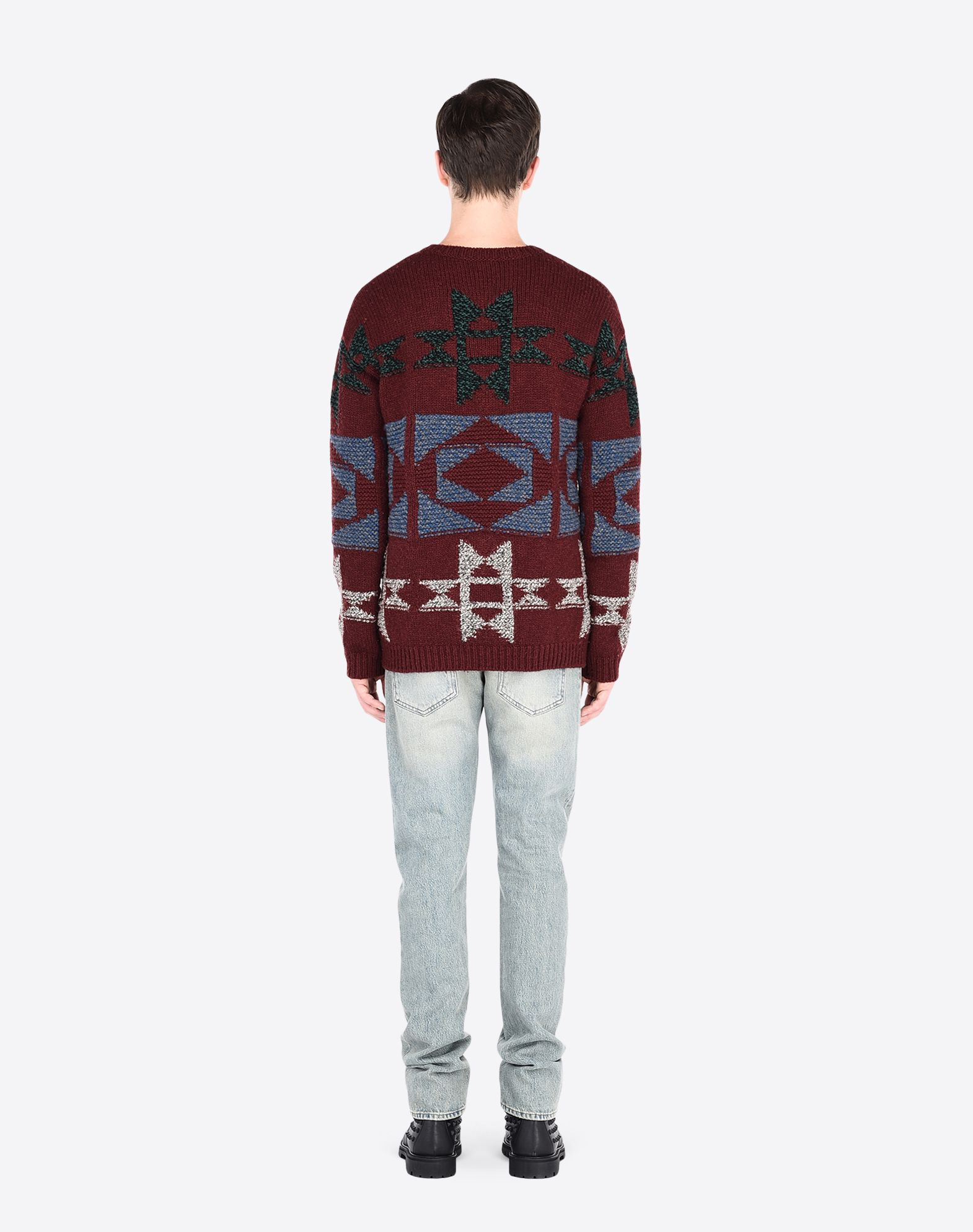 VALENTINO Multicolor Pattern Medium-weight sweater Round collar  39669444rn