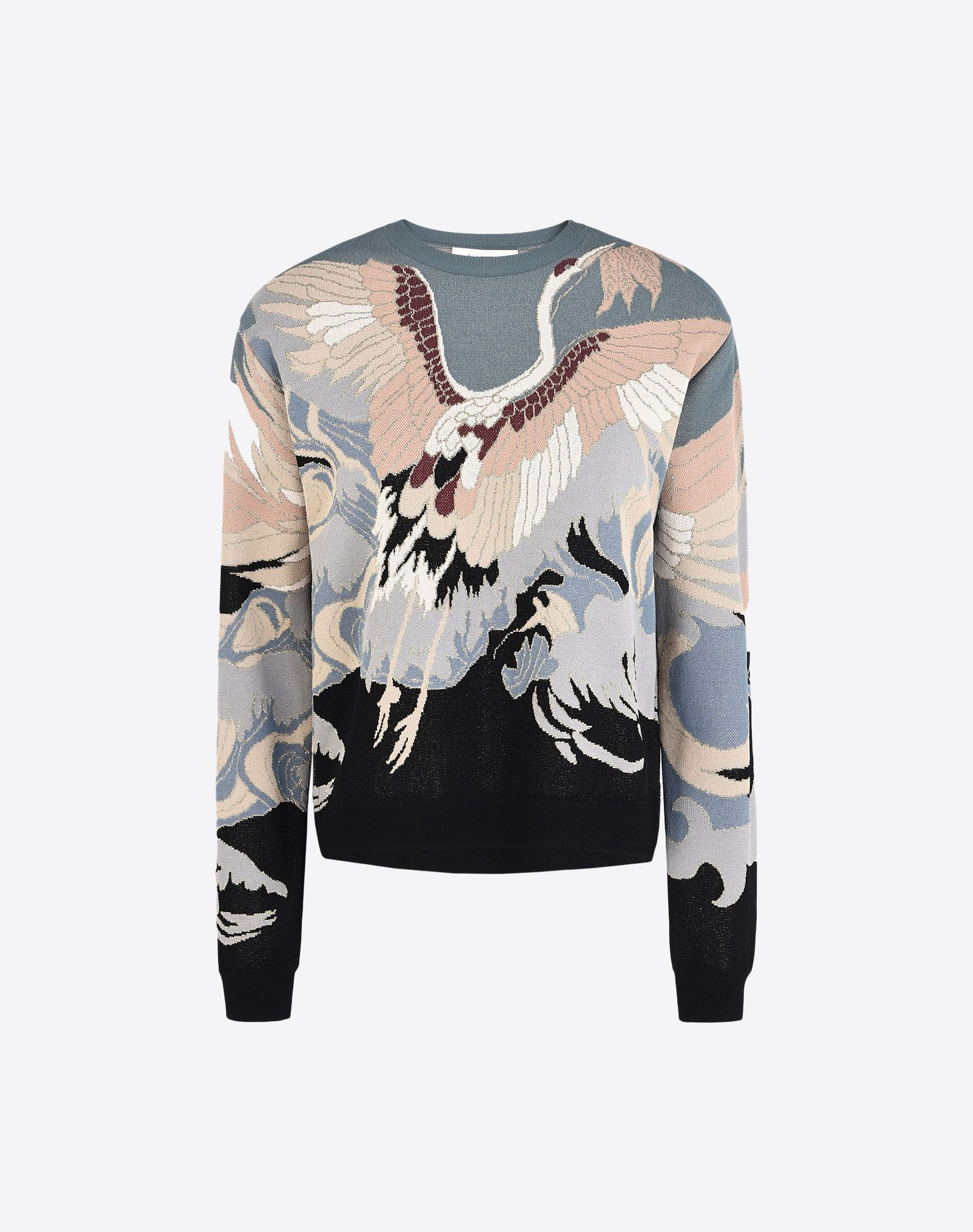 VALENTINO Jacquard Lamé Lightweight knitted Round collar Long sleeves  39672286nw