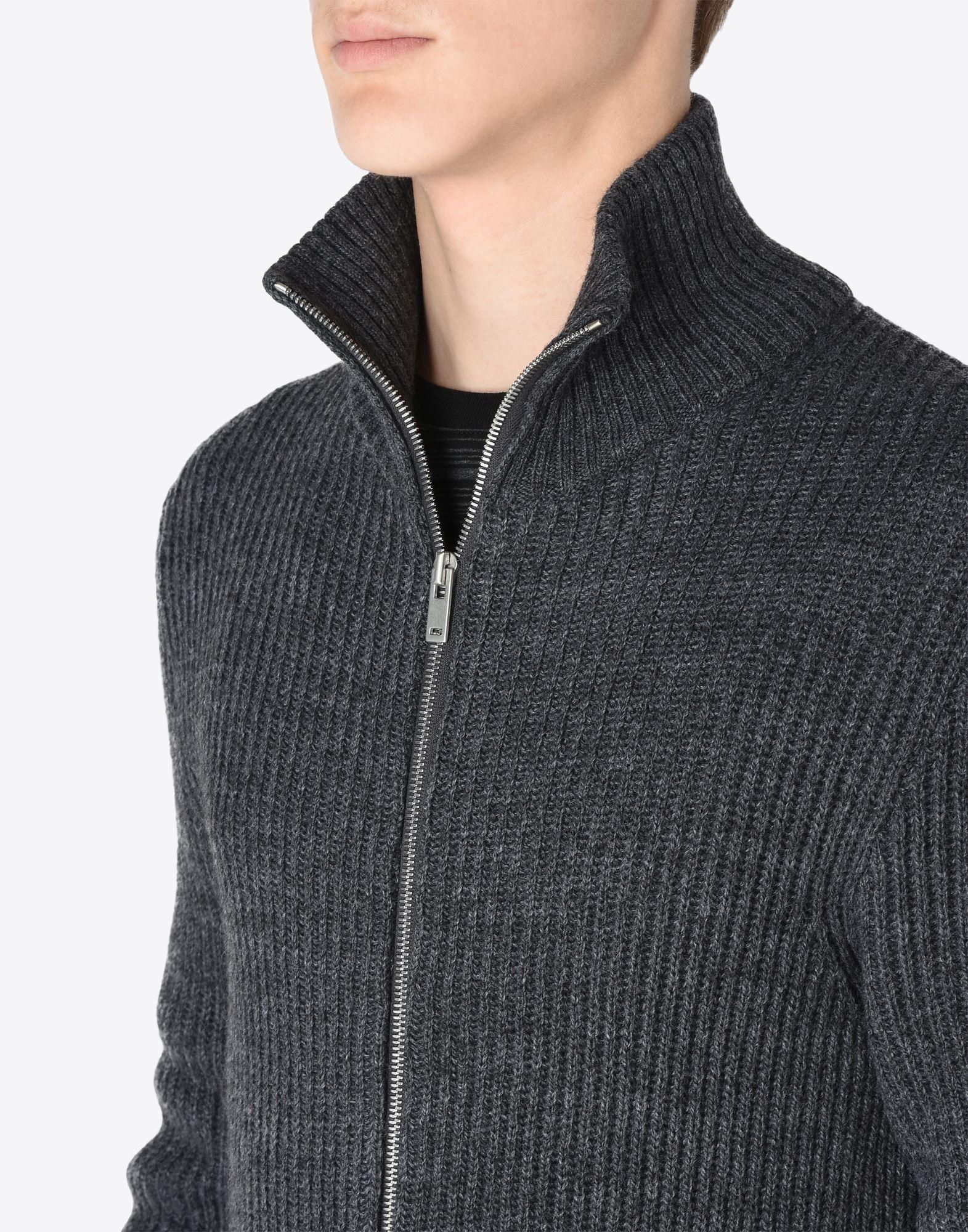 MAISON MARGIELA 14 Sweater mit Reißverschluss Pullover mit Rollkragen Herren a