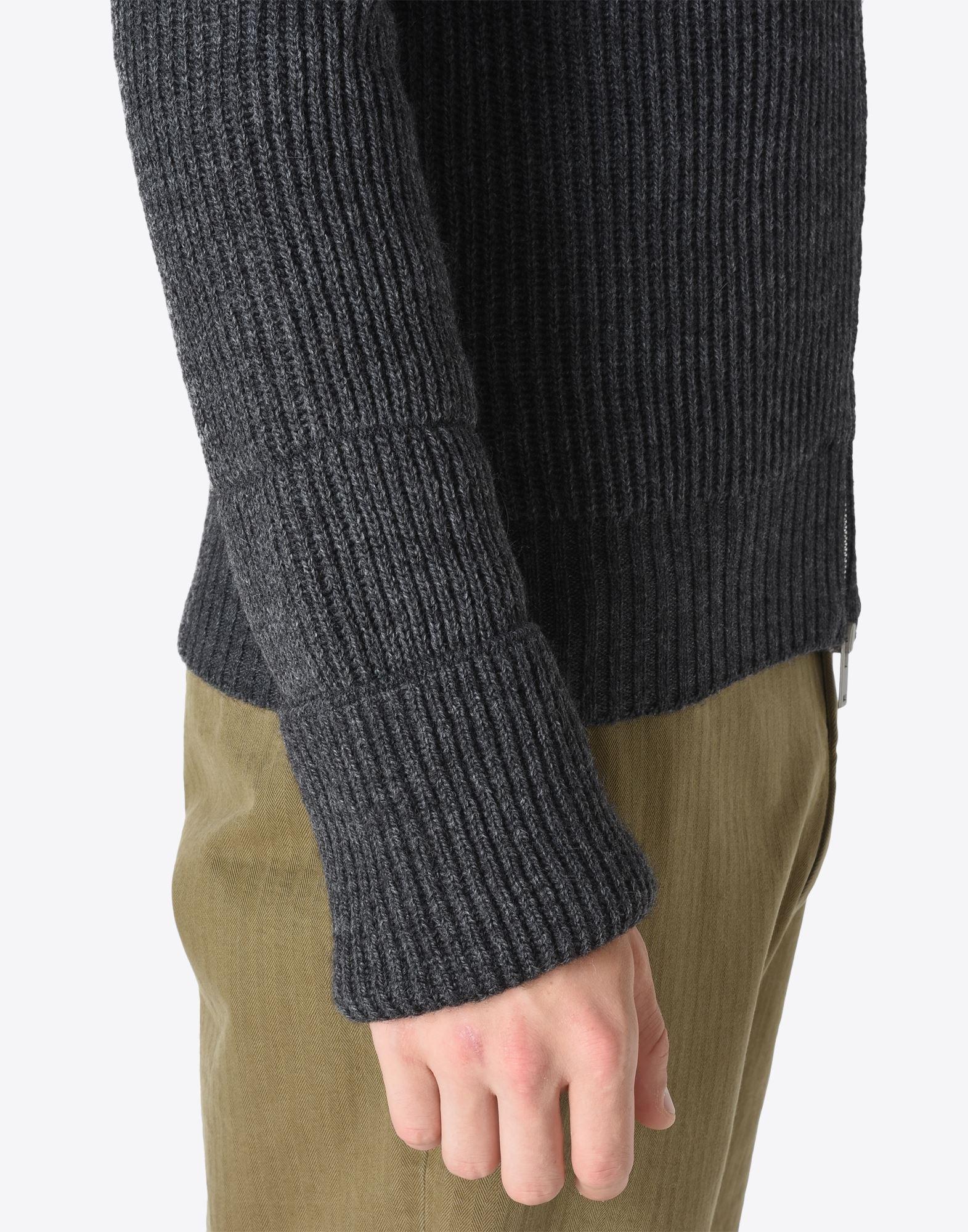 MAISON MARGIELA 14 Sweater mit Reißverschluss Pullover mit Rollkragen Herren b