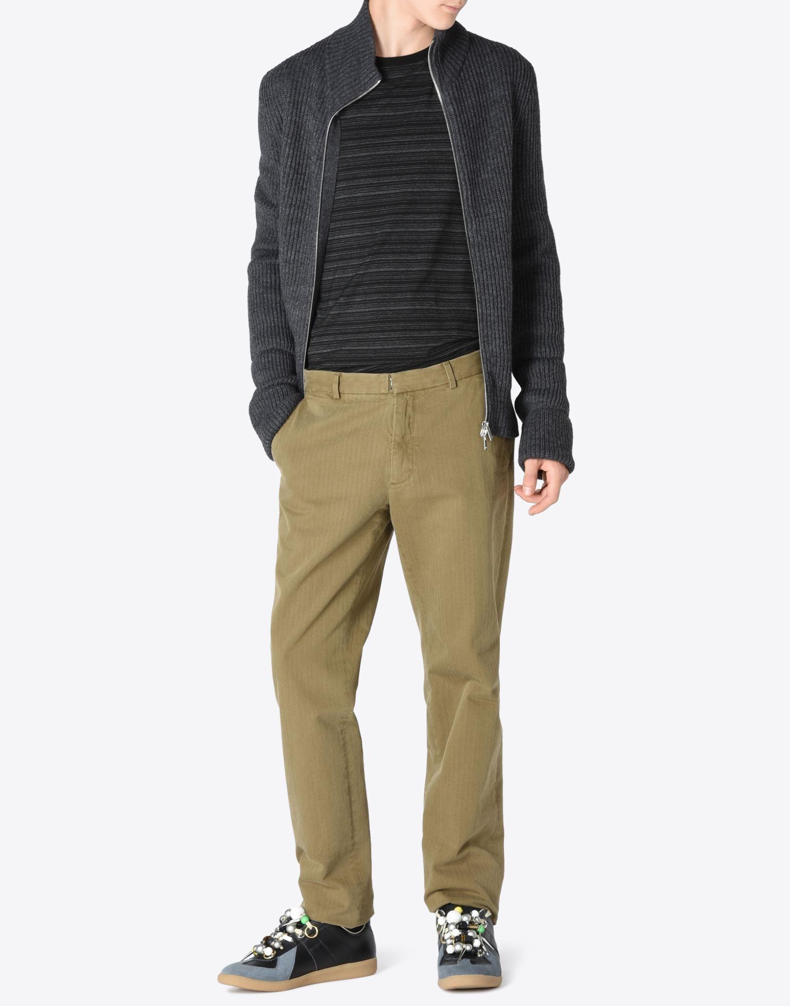 MAISON MARGIELA 14 Sweater mit Reißverschluss Pullover mit Rollkragen Herren d