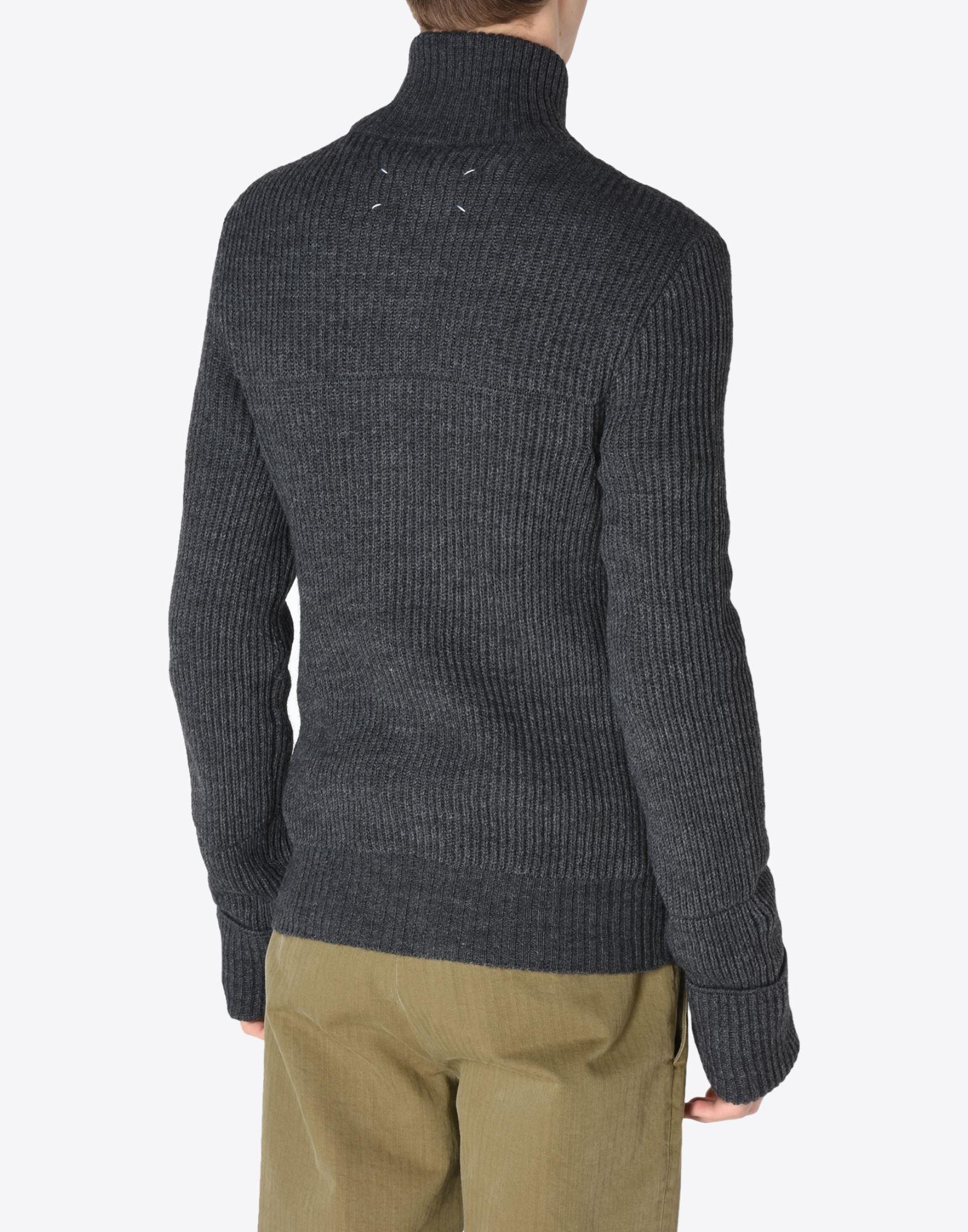 MAISON MARGIELA 14 Sweater mit Reißverschluss Pullover mit Rollkragen Herren e