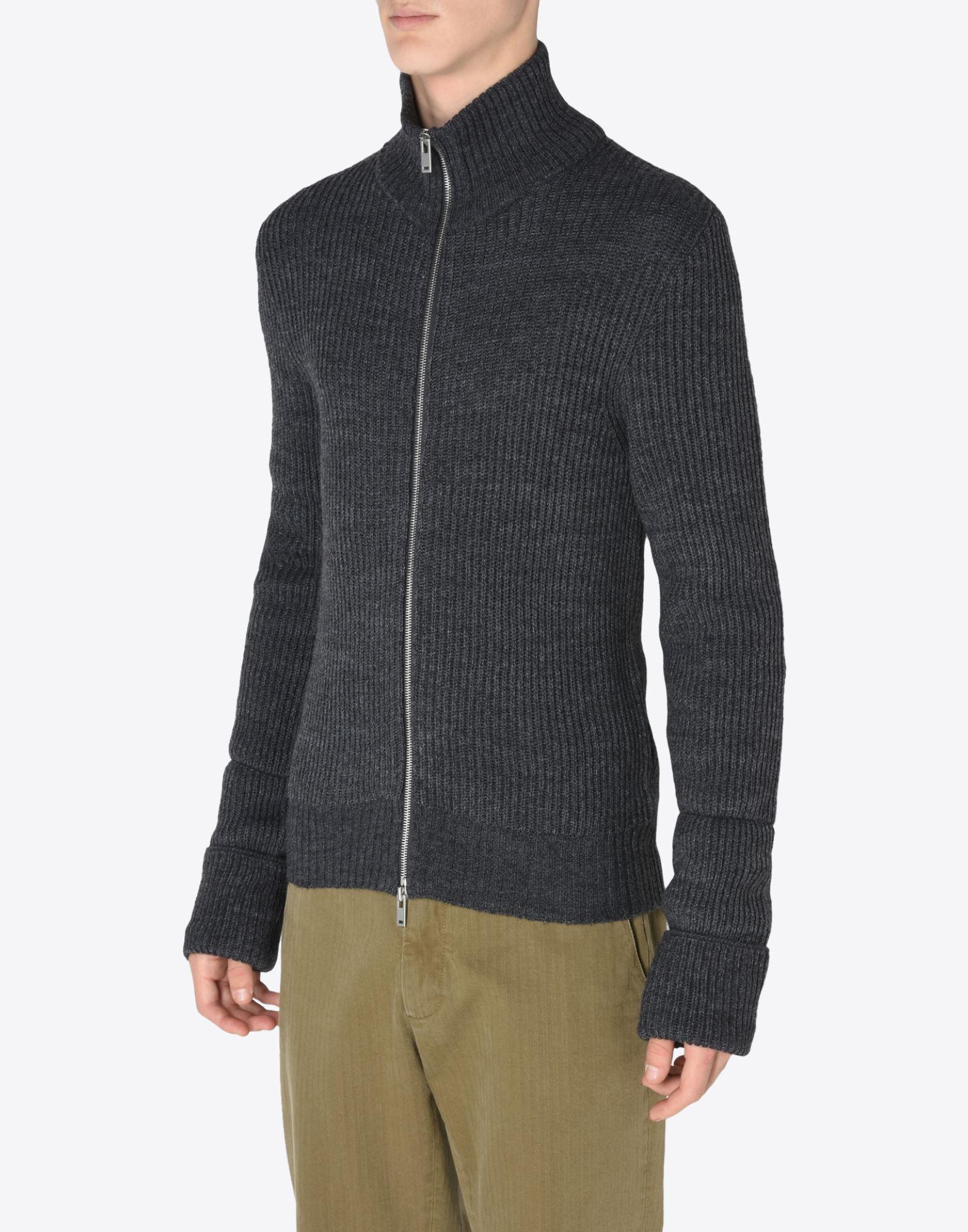 MAISON MARGIELA 14 Sweater mit Reißverschluss Pullover mit Rollkragen Herren r