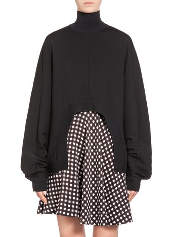 Marni Oversize kimono turtleneck in virgin wool  Woman