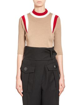 Marni Sweater in virgin wool with two-color insets Woman