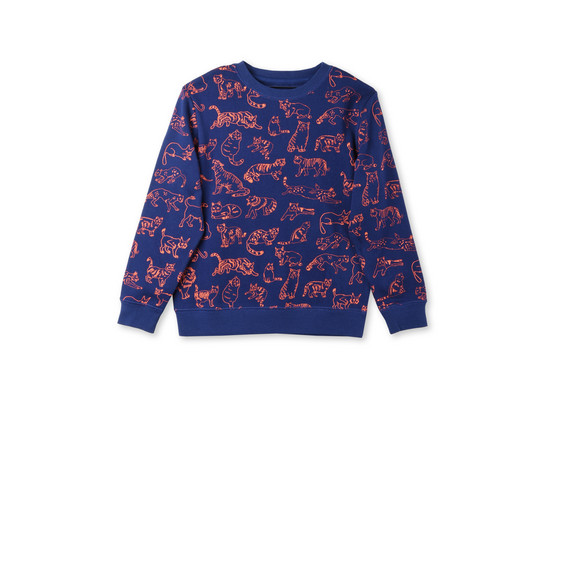 Midnight Biz Lion Print Sweatshirt