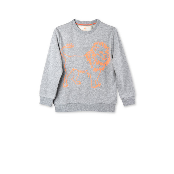 Grey Biz Lion Print Sweatshirt