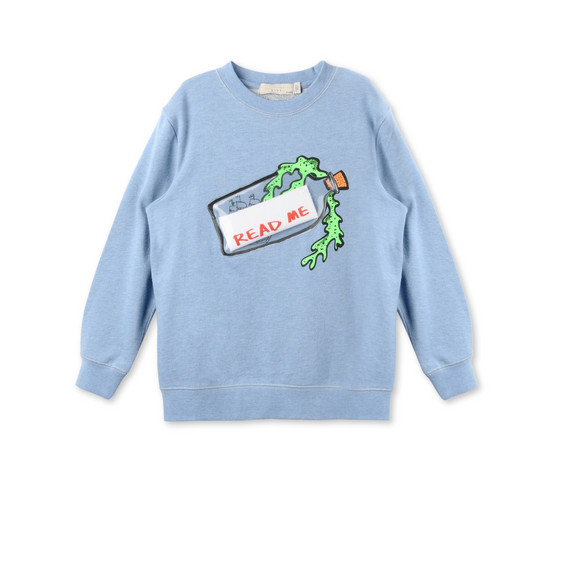 Message in a Bottle Print Biz Sweatshirt