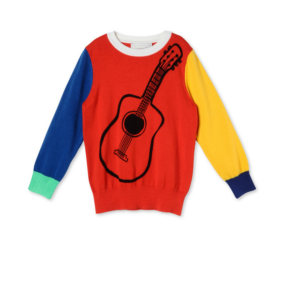 Guitar Print Lucky Jumper