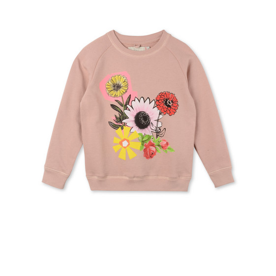 Pink Graphic Flowers Betty Sweatshirt
