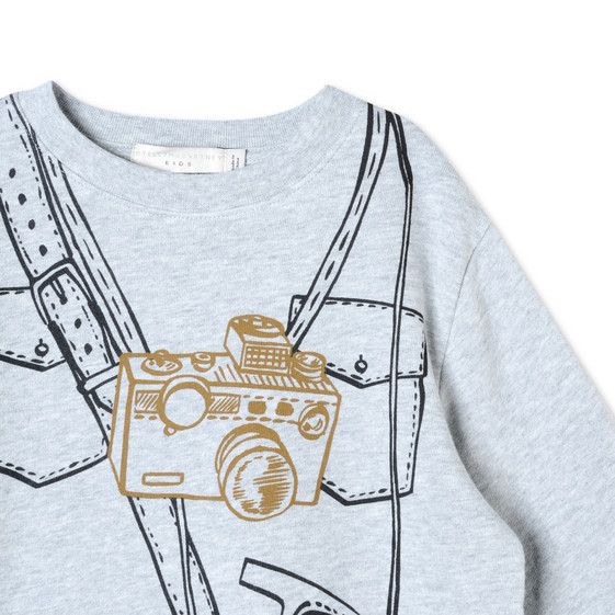 Sweat-shirt Biz avec imprimé explorateur