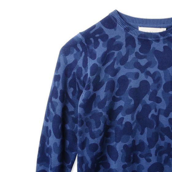 Blue Camo Curtis Jumper