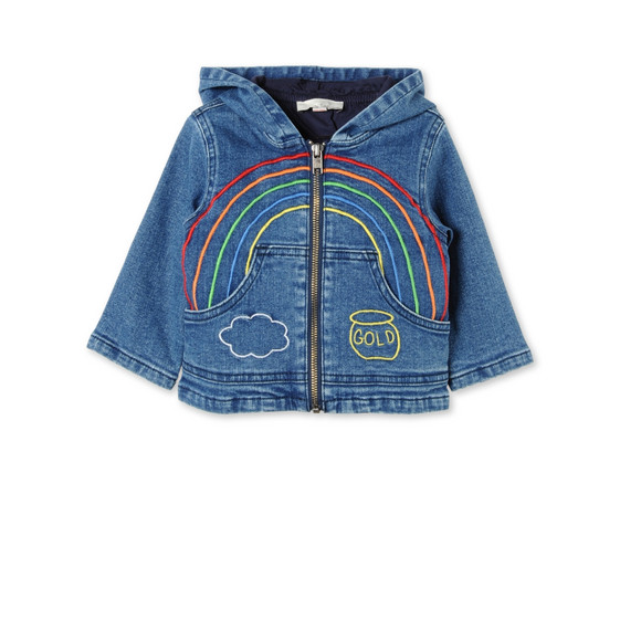 Rainbow Embroidered Bubba Denim Jacket