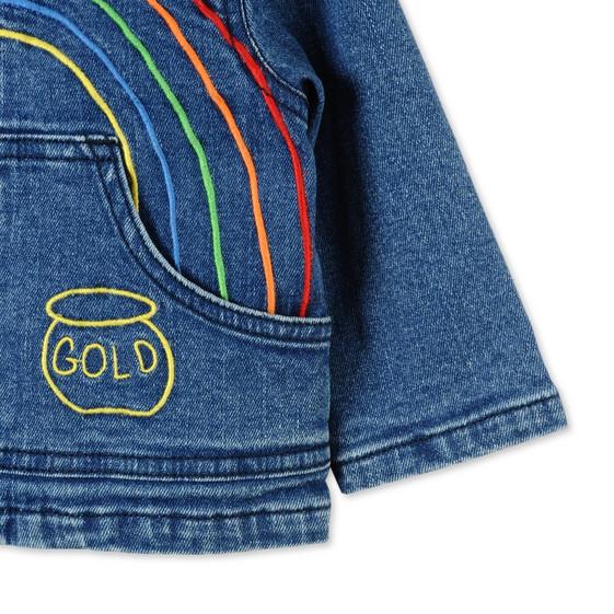 Rainbow Embroidered Bubba Denim Jacket