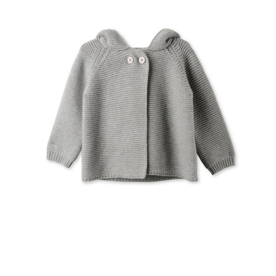 Grey Smudge Cardigan
