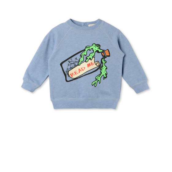 Message in a Bottle Print Billy Sweatshirt