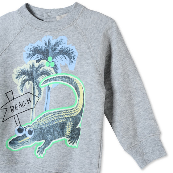Croco Beach Print Billy Sweatshirt