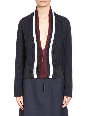 Marni Virgin wool cardigan with zipper Woman