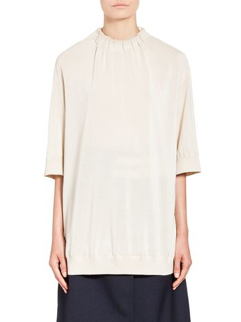 Marni Cotton and silk sweater with drawstring Woman