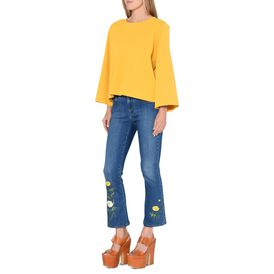 Mustard Round Neck Jumper