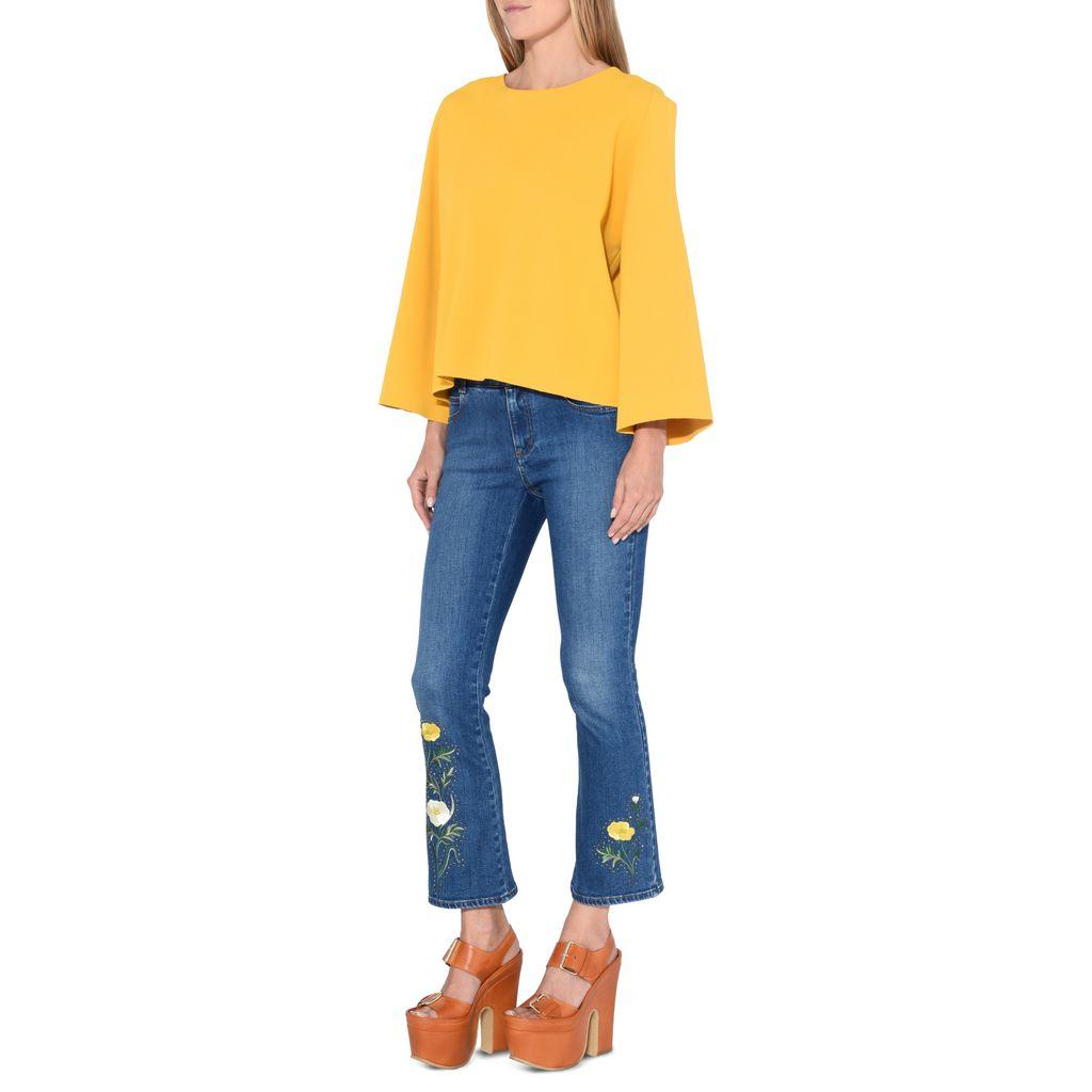 Mustard Round Neck Jumper - STELLA MCCARTNEY