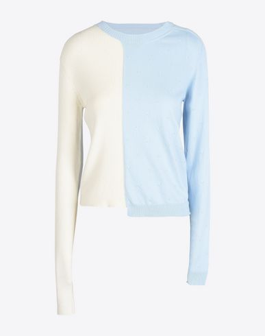 MAISON MARGIELA 1 Long sleeve sweater D Double texture pull-over f
