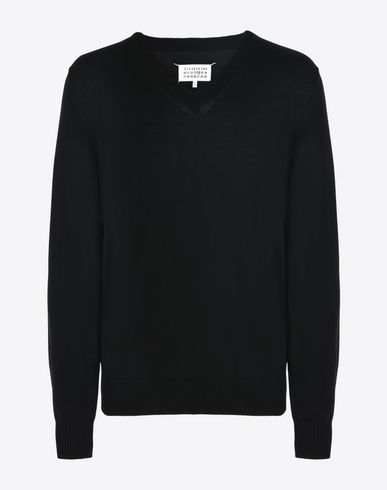MAISON MARGIELA 14 V-neck U Jersey pull-over with elbow details f