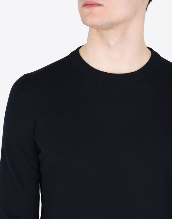 MAISON MARGIELA 14 Jersey pull-over with elbow details Crewneck sweater Man b