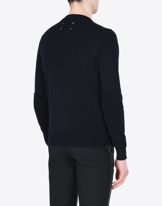 MAISON MARGIELA 14 Jersey pull-over with elbow details Crewneck sweater Man e