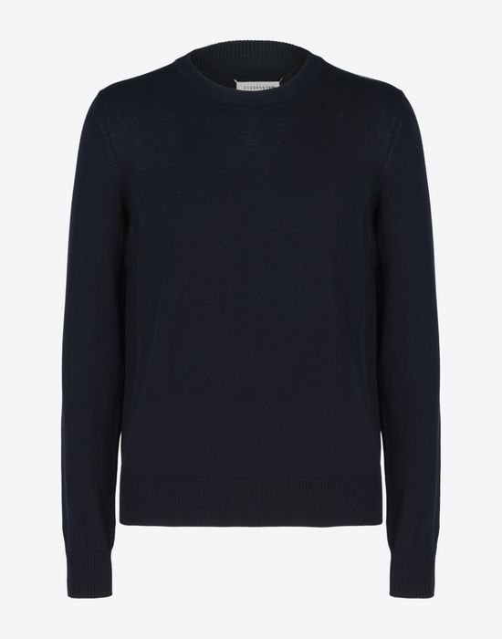 MAISON MARGIELA 14 Jersey pull-over with elbow details Crewneck sweater Man f