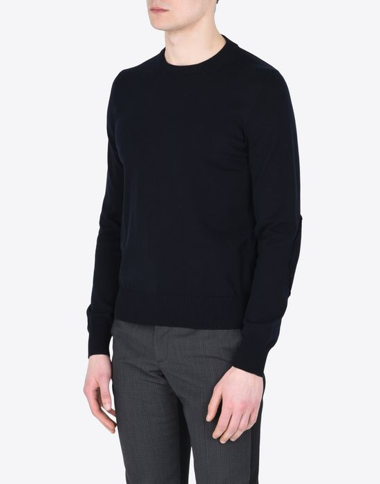MAISON MARGIELA 14 Jersey pull-over with elbow details Crewneck sweater Man r