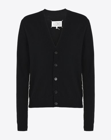 MAISON MARGIELA 14 Cardigan U Cardigan with contrasting edges f