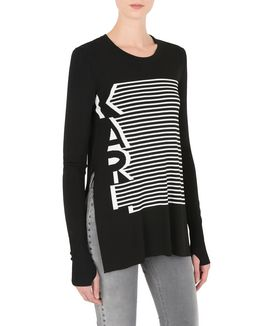 KARL LAGERFELD KARL GRAPHIC STRIPE SWEAT