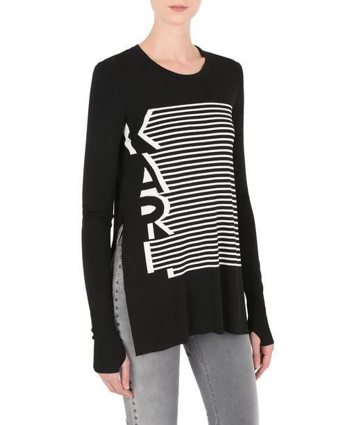 KARL LAGERFELD KARL GRAPHIC STRIPE SWEAT 12_f