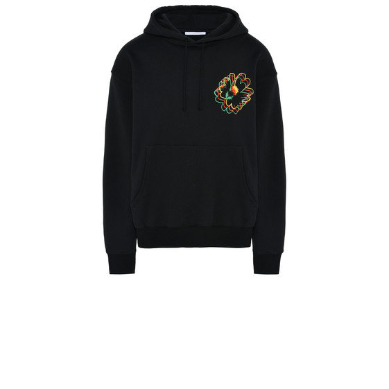 Black Nice One Embroidered Fleece