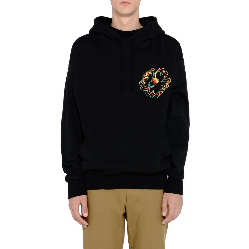 Black Nice One Embroidered Sweatshirt - STELLA McCARTNEY MEN