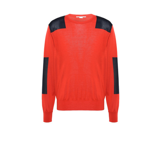 Red Utility Knit Jumper