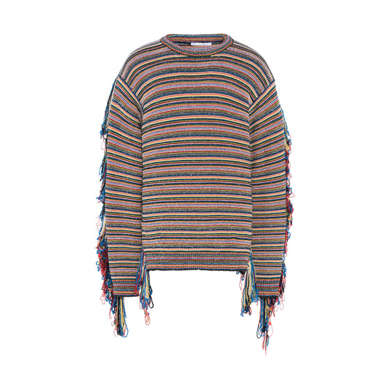 Multicolor Stripes Chunky Knit Jumper