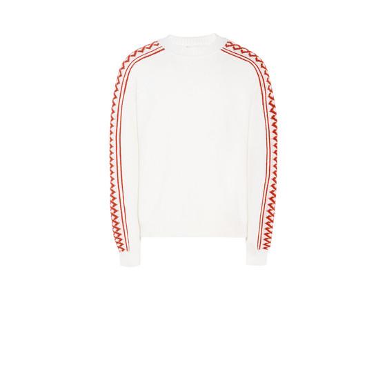 Maglione Sportivo Rustico Bianco