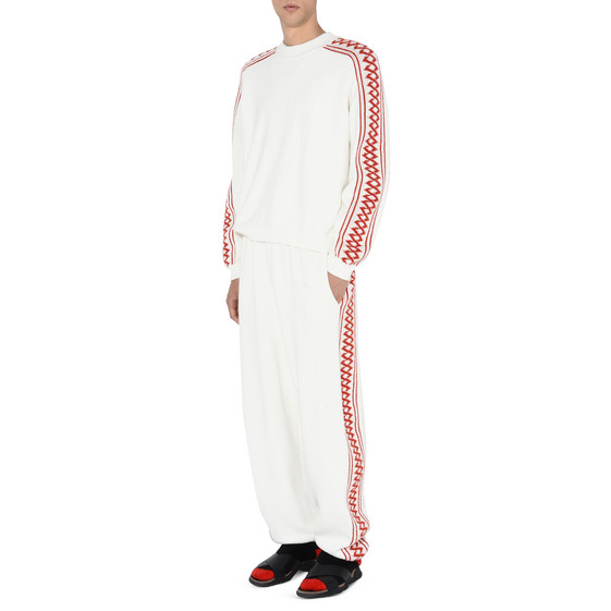White Rustic Sportswear Jumper