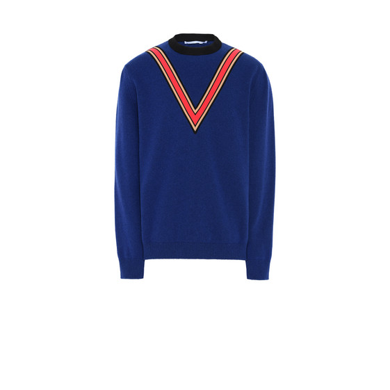 Indigo Ribbon Trim Knit Jumper